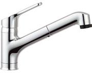 INAX LIXIL・リクシル キッチン用水栓金具ワンホールタイプ 吐水口引出式(ハンドシャワー付) クロマーレ(エコハンドル) 寒冷地対応【SF-HB452SYXN】[新品]