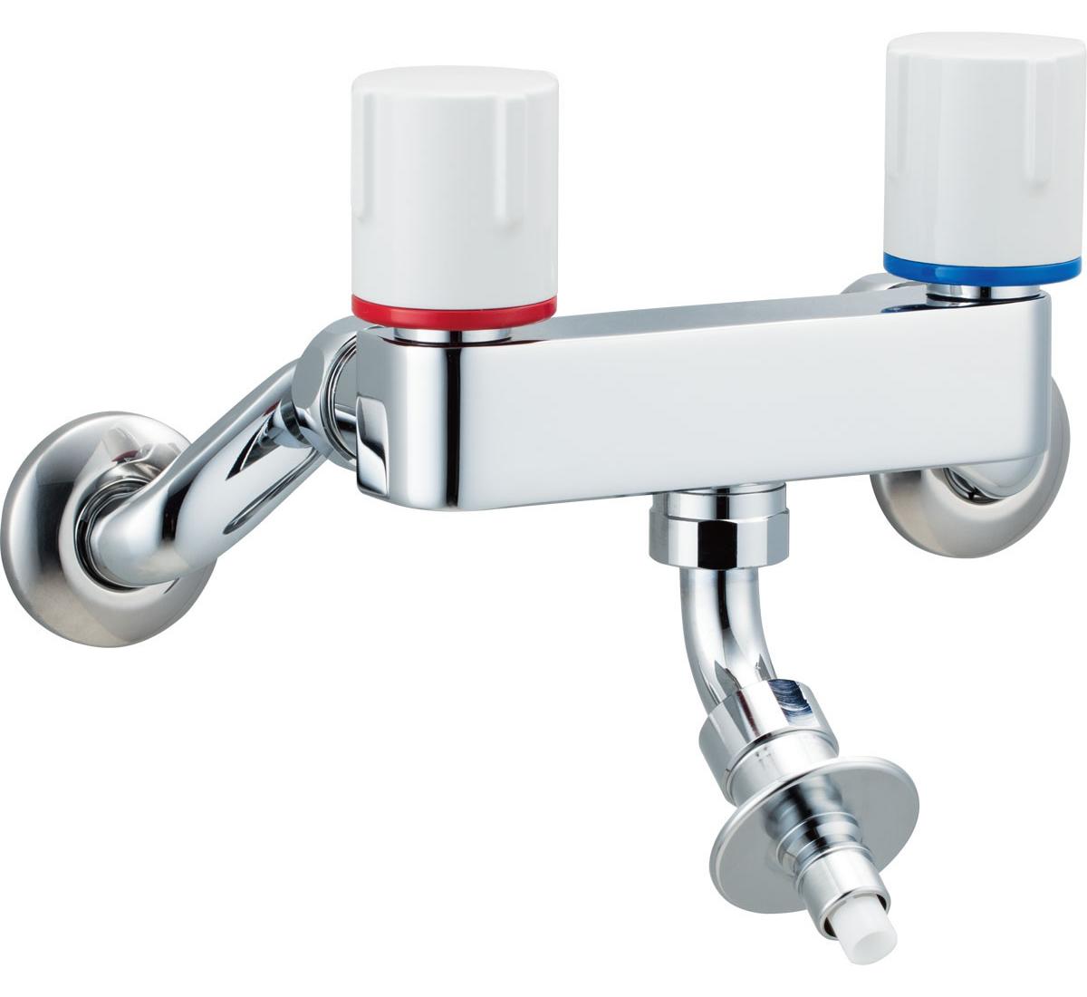 INAX[イナックス]・LIXIL[リクシル] 【SF-WL63RQN】 洗濯機用水栓金具 露出タイプ(屋内専用) 緊急止水弁付2ハンドル混合水栓 寒冷地対応商品 [新品]
