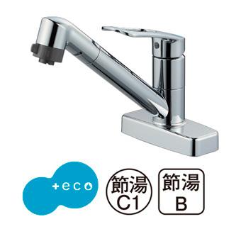 三栄水栓[SANEI]【K7711MEV-13】シングル台付切替シャワー混合栓[新品]