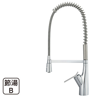 三栄水栓[SANEI]【K8731JV-13】シングルワンホールスプレー混合栓[新品]