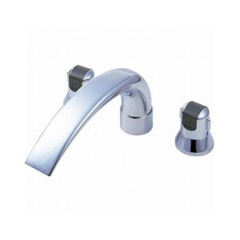 新品本物 ショップ 三栄水栓[SANEI]【K9160CK-L-13X240】ツーバルブデッキ混合栓(ユニット用)[新品]【RCP】:DOOON-木材・建築資材・設備