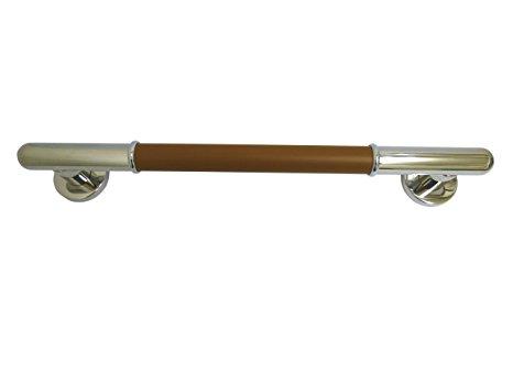 シロクマ 丸棒ニギリバー 800mm 鏡面/ブラウン 【NO-701】【メーカー直送のみ・代引き不可・NP後払い不可】[新品]