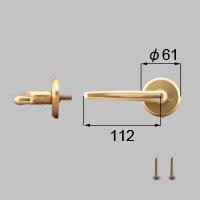 LIXIL リクシル トステム 浴室ドアEX-A把手(右)【商品コード:J3N1108 内容物:本体(内外)×1、取付ネジセット×1 ゴールド 】[新品]