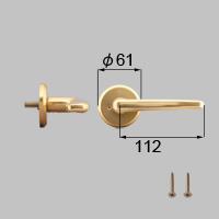 LIXIL リクシル トステム 浴室ドアEX-A把手(左)【商品コード:J3N1109 内容物:本体(内外)×1、取付ネジ×1、取説 ゴールド 】[新品]