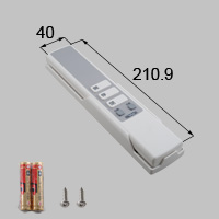 LIXIL リクシル トステム リモコン 【商品コード:ZJR549 内容物:本体×1、取付ネジセット×1、電池(単3)×2 ホワイト 】[新品]