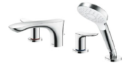 TOTO 浴室用水栓 台付2ハンドル混合水栓 一般地・寒冷地共用【TBG01202J】 [新品]
