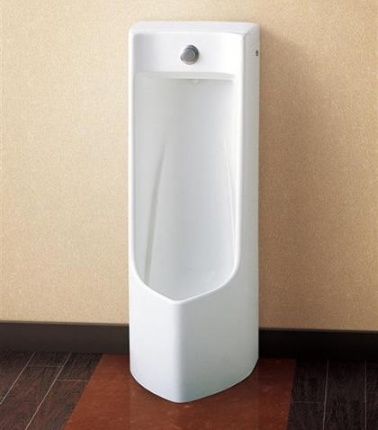 【直送商品】TOTO トイレ プッシュボタン小便器【UFJ300CVZ】 床置式 陶器部:UJ300CV 排水金具:T64S1W [新品]【代引き不可・NP後払い不可】
