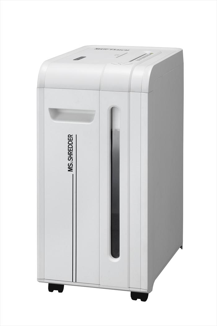 明光商会 MSシュレッダー(質量22.6kg)置く場所を選ばないスリムな縦型モデル高い機密性を確保する2×10mmの極小細断!MSR-15MCM