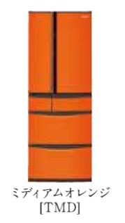 パナソニック 20年度モデル NR-J41PC-TMD ミディアムオレンジ【ボディカラー:ブラウン<Tシリーズ>コーディネイト冷蔵庫406L】 →右開き 納期約1ヶ月 設置無料