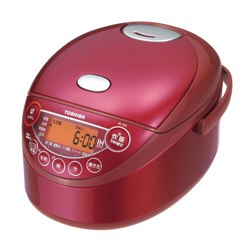 東芝 3.5合炊き備長炭鍛造かまど釜 IHジャー炊飯器 RC-6XL-R