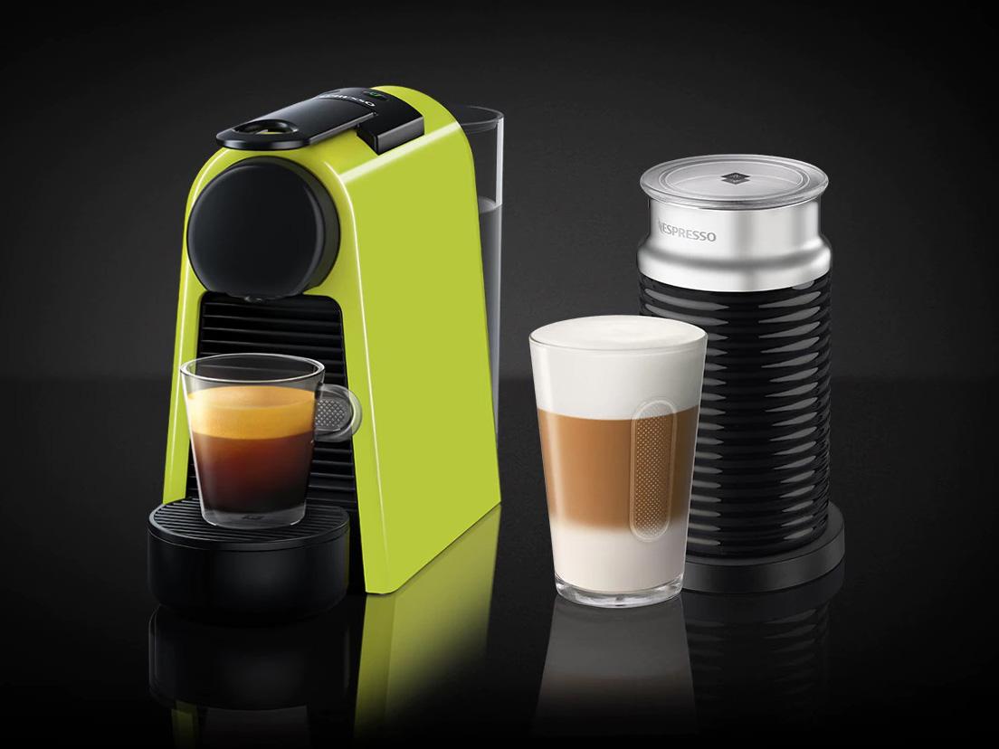 ネスプレッソ専用カプセル式コーヒーメーカー 「エッセンサ・ミニ」 バンドルセットD30GN-A3B