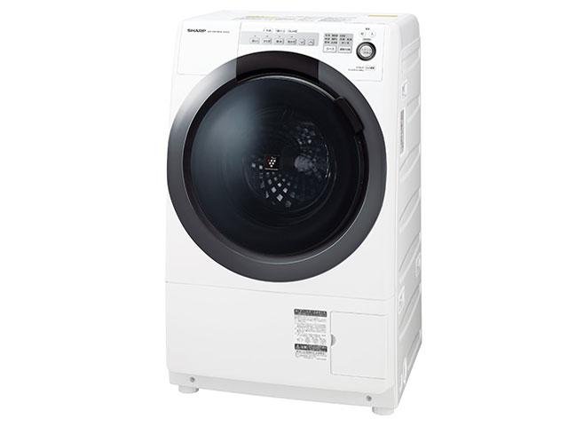 シャープ 7.0kg ドラム式洗濯乾燥機 ES-S7C-WL【左開き←】