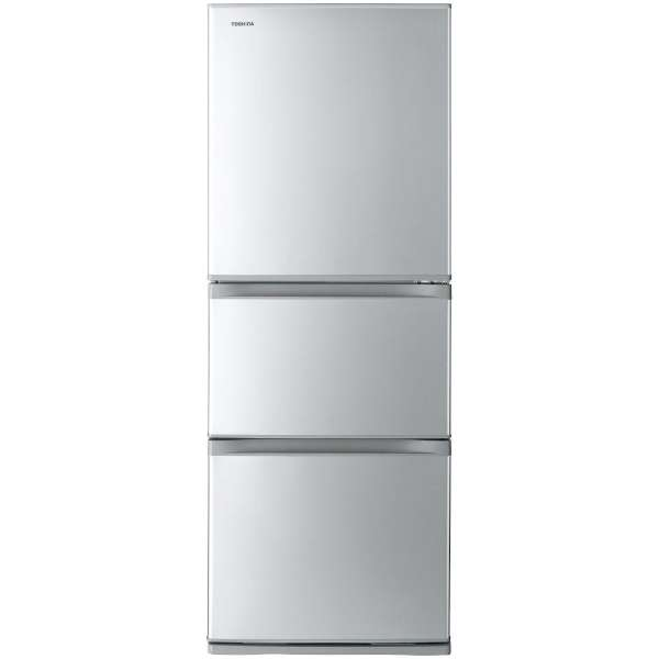 基本設置無料 東芝 330L 3ドア冷蔵庫 GR-M33S-S 質量 67kg
