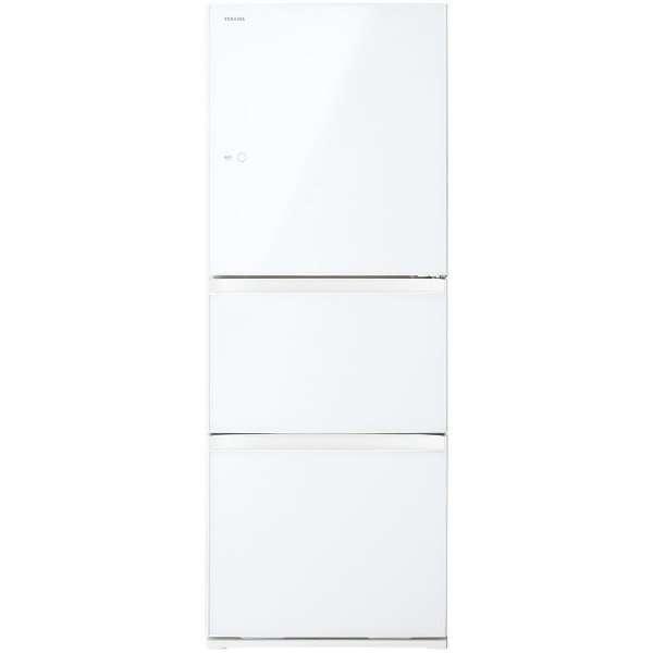 基本設置無料 東芝 330L 3ドア冷蔵庫 GR-M33SXVL-EW 【←左開き】質量 73kg