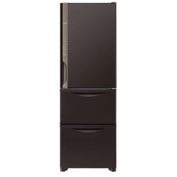 基本設置無料 日立 375L 3ドア冷蔵庫【→右開き】 R-K38JV-TD 質量 67kg