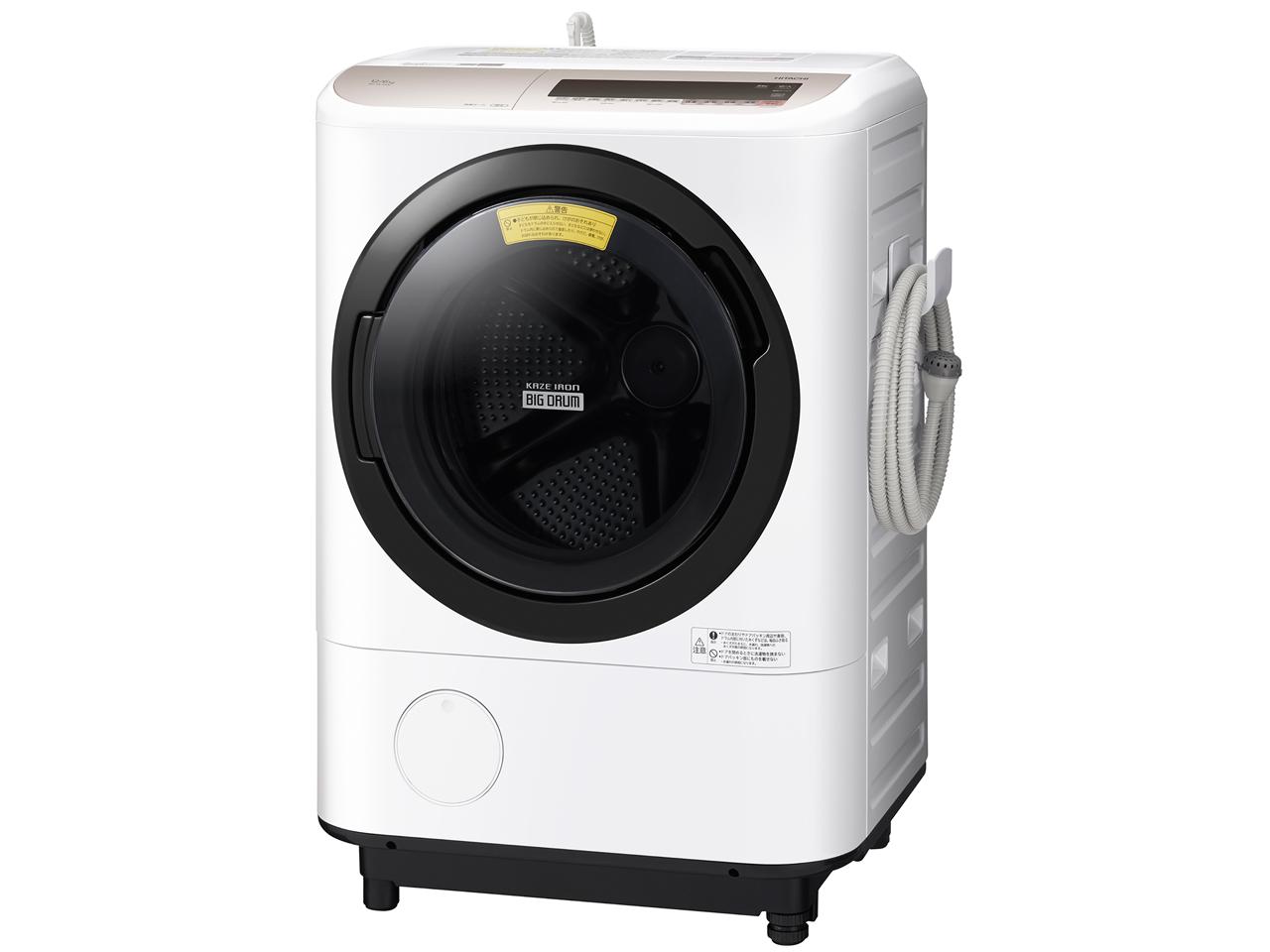 日立 12.0kg ドラム式洗濯乾燥機 BD-NV120CL-N【左開き】