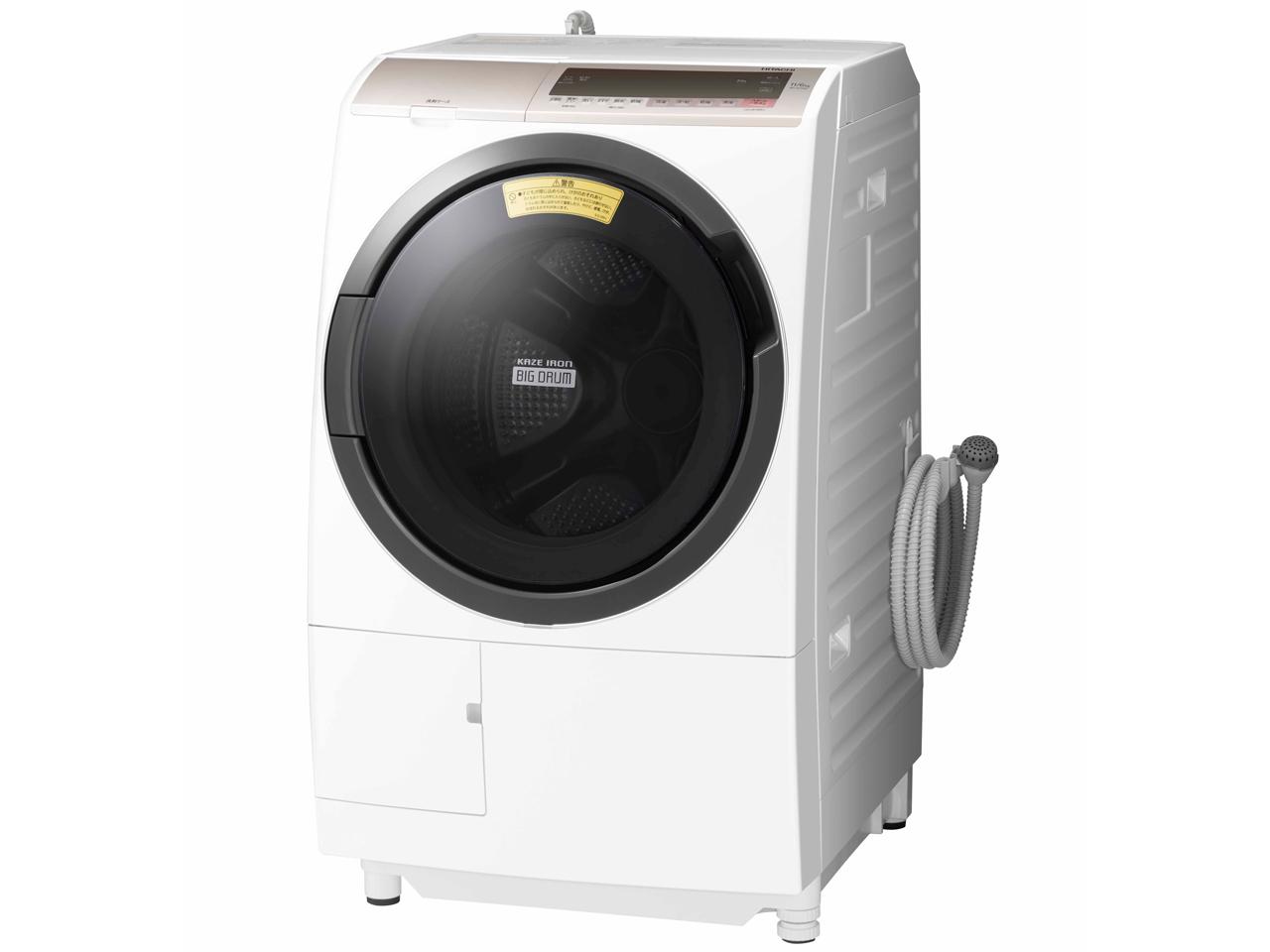 日立 11.0kg ドラム式洗濯乾燥機 BD-SV110CL-N【左開き】