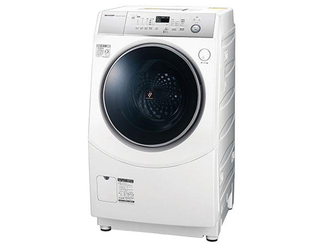 シャープ 10.0kg ドラム式洗濯乾燥機ES-H10C-WL【左開き】