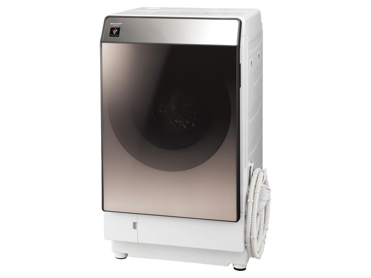 シャープ 11.0kg ドラム式洗濯乾燥機ES-U111-TL【左開き】