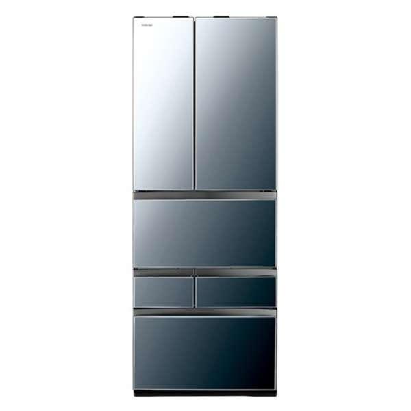東芝 601L 6ドア冷蔵庫GR-P600FWA-X