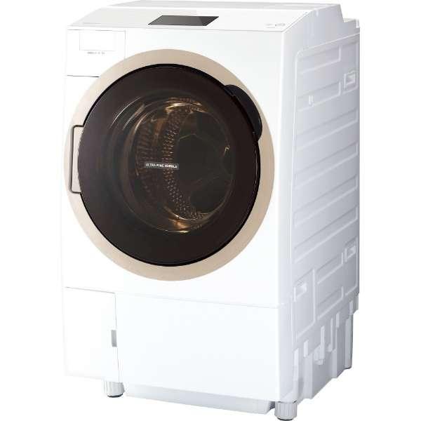 東芝 ZABOON 12.0kg ドラム式洗濯乾燥機【左開き←】 TW-127X7L-W