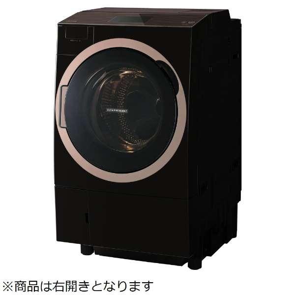 東芝 ZABOON 12.0kg ドラム式洗濯乾燥機【右開き→】 TW-127X7R-T