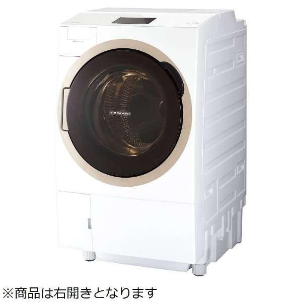 東芝 ZABOON 12.0kg ドラム式洗濯乾燥機【右開き→】 TW-127X7R-W
