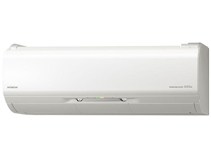 日立19年モデルXシリーズ RAS-X80J2-W【ステンレス・クリーン】22畳用冷暖房エアコン200V仕様