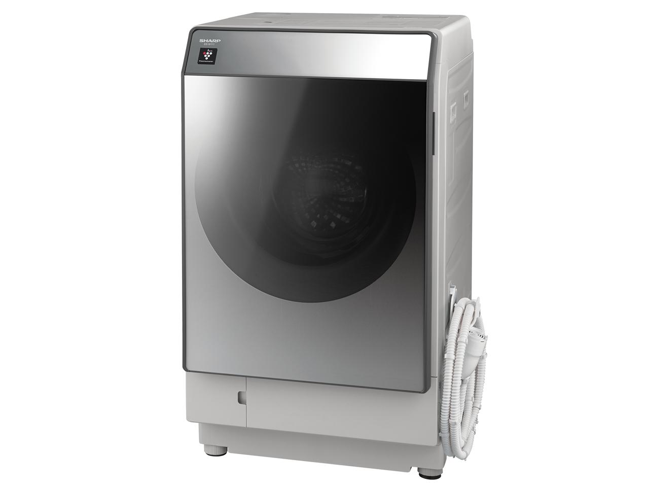 シャープ 11.0kg ドラム式洗濯乾燥機ES-W111-SL【左開き←】