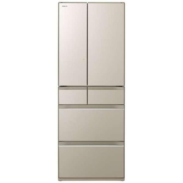 【基本設置無料】日立 HWシリーズ 602L 6ドア冷蔵庫 R-HW60K-XN 創業73年、新品不良交換対応