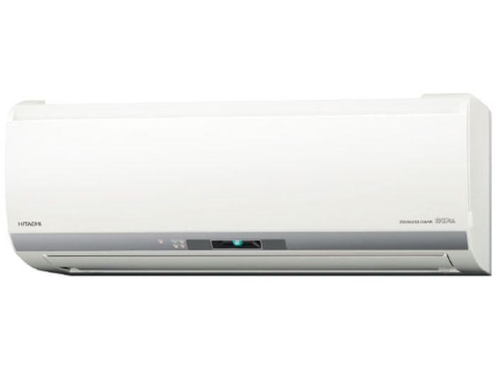 日立19年モデル白くまくんEシリーズ 8畳用冷暖房エアコン RAS-E25J-W