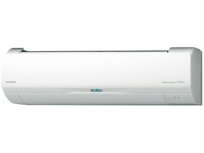 日立19年モデル白くまくんWシリーズ 14畳用冷暖房エアコン200V仕様 RAS-W40J2-W