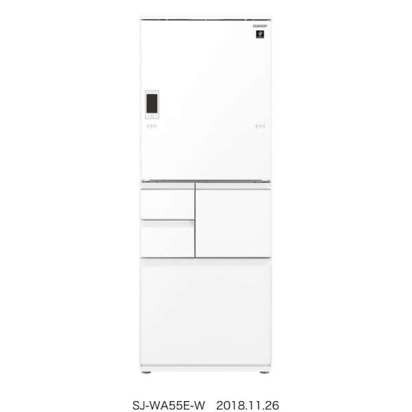 【標準設置無料】シャープ 551L 5ドア冷蔵庫 SJ-WA55E-W