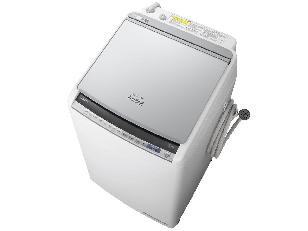 日立 ビートウォッシュ9.0kg 洗濯乾燥機 BW-DV90E-S