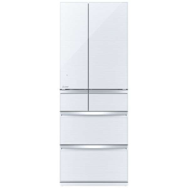 【標準設置無料】三菱電機 置けるスマート大容量 WXシリーズ 700L 6ドア冷蔵庫MR-WX70E-W