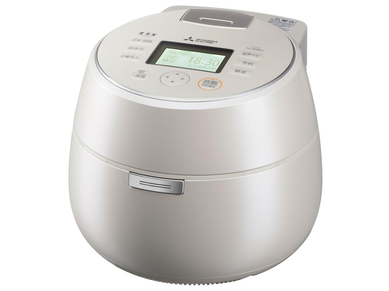 三菱電機 本炭釜 5.5合炊き IHジャー炊飯器 NJ-AWA10-W