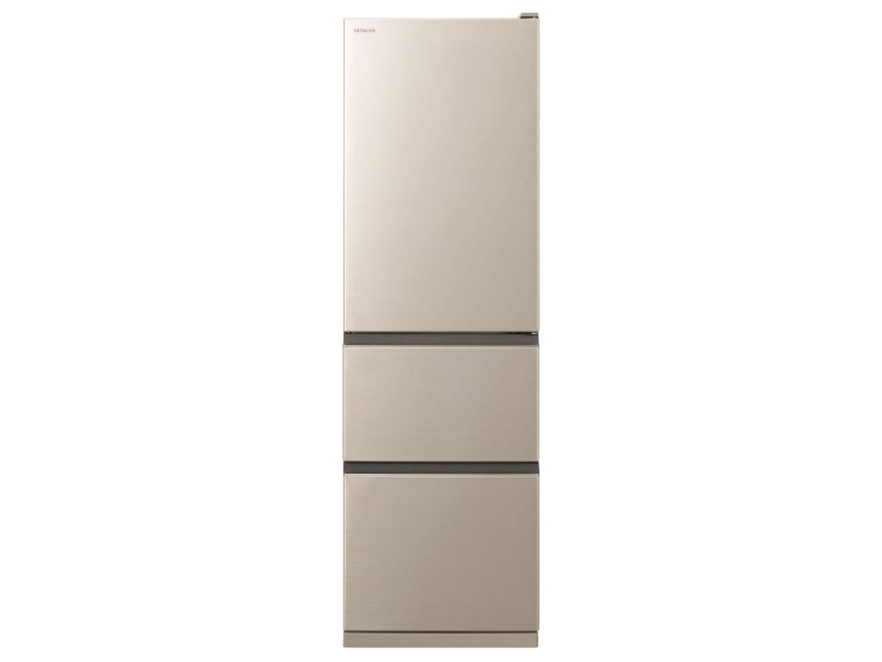 【基本設置無料】日立 315L 3ドア冷蔵庫 R-V32KVL-N【左開き】