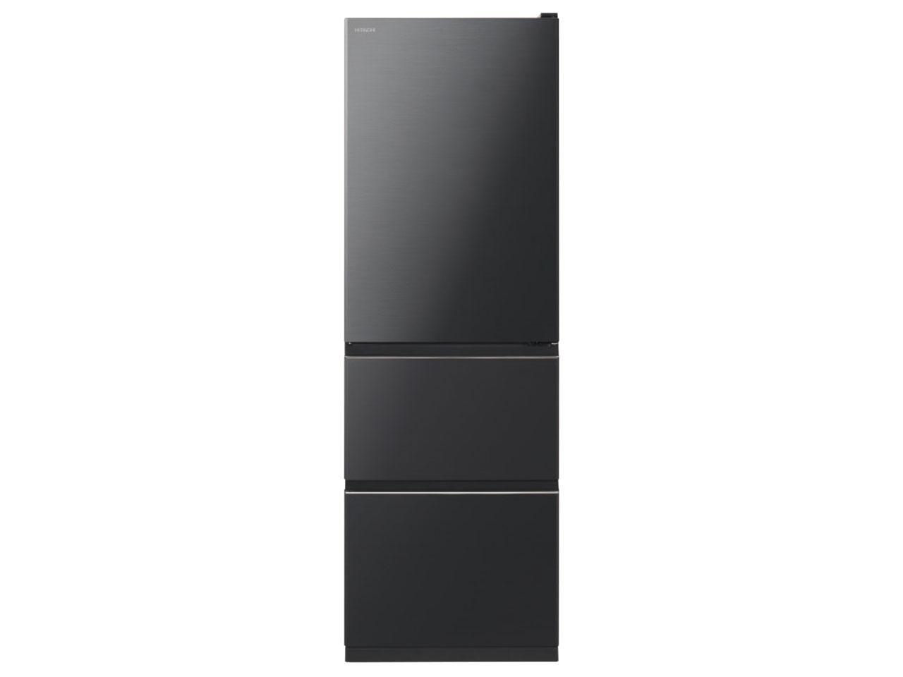 【基本設置無料】日立 375L 3ドア冷蔵庫 R-V38KVL-K【左開き】