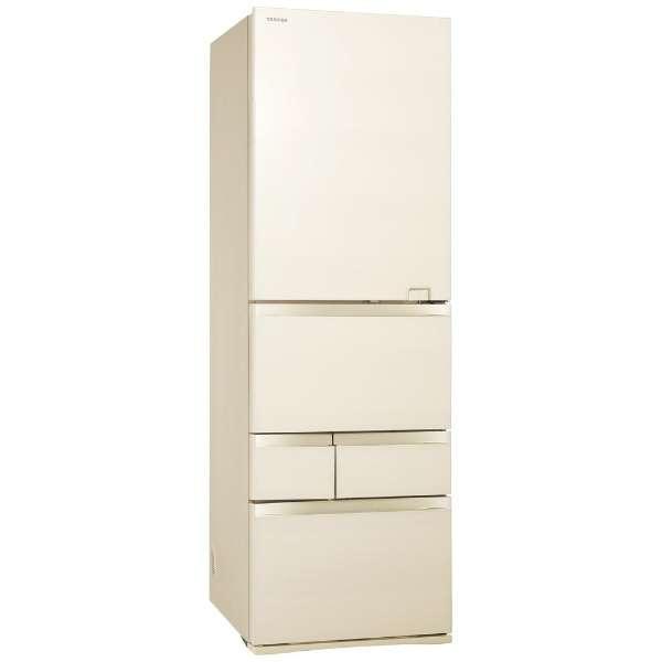 【標準設置無料】東芝 べジータ 465L 5ドア冷蔵庫【←左開き】 GR-S470GZL-ZC