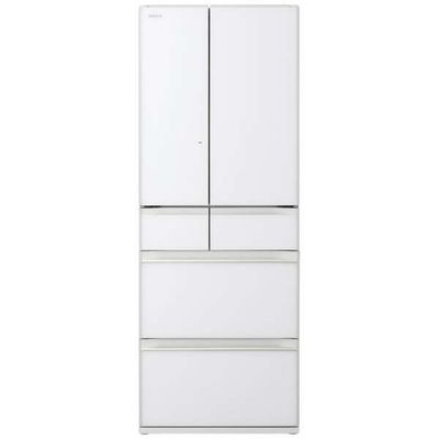 日立 602L 6ドア冷蔵庫 R-HW60N-XW 【標準設置無料】 創業74年、初期不良対応