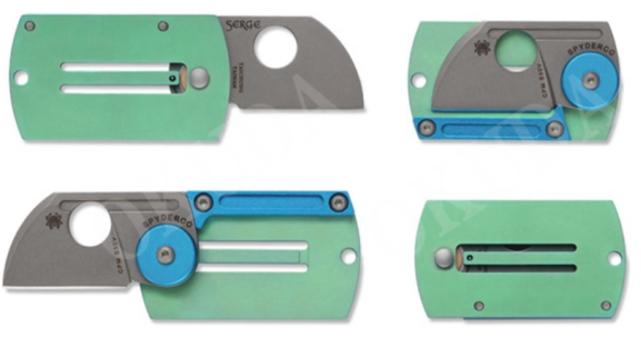 SPYDERCO(スパイダルコ) C188ALTIP 並行輸入品CPM-S30V チタンDog Tag Folder (ドッグタグフォルダー)