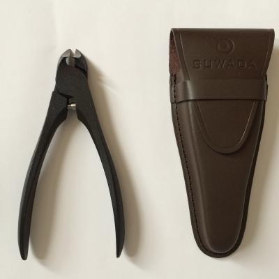 送料無料 爪切りと革ケースの便利なセット販売です プレゼント包装できます SUWADA スワダ ニッパー式爪切り 今ダケ送料無料 クラシック ブラックL 革ケースセット曲刃 新作通販