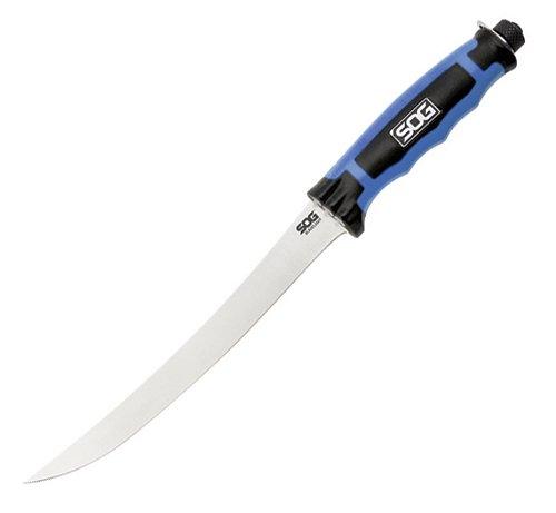 "SOG(ソグ)00023 BladeLight Fillet 7.5""ブレードライト フィレ 7.5インチシースナイフ ハードシースLEDライト付ナイフ"