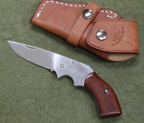 MOKI(モキ)MK-500B ガンブレードフォールディングナイフ紫檀 AUS-8