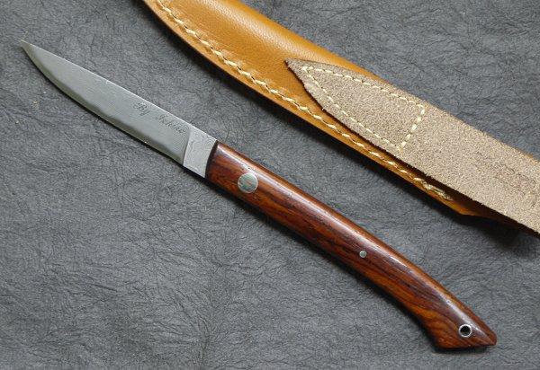 HATTORI(ハットリ)KD30-目高1 ココボロカウリXニッケルダマスカス鋼シースナイフ