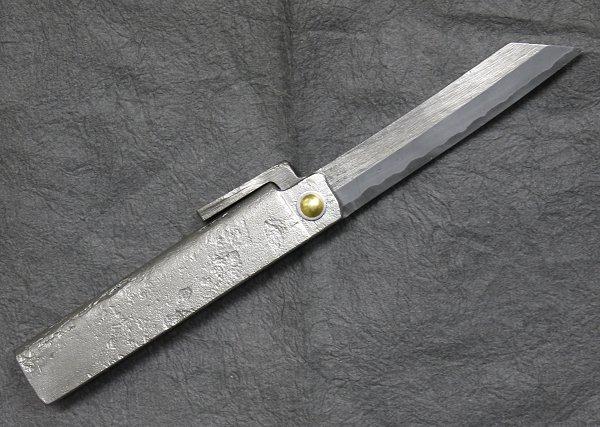 富田修作 日本和鉄鍛造肥後小刀乱刃 大肥後守型ナイフ 大