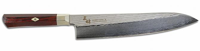 MCUSTA(エムカスタ)三昧(ザンマイ)シュープリーム 波目牛刀 240mm TZ2-4007DR