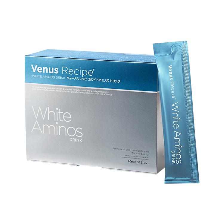 AXXZIA(アクシージア) ヴィーナスレシピ ホワイト アミノズドリンク 600mL(20mL×30包)【Venus Recipe White Aminos Drink コラーゲンドリンク アミノ酸 ビタミンC プラセンタ 低カロリー サプリ サプリメント ビーナスレシピ 美容 清涼飲料水 日本製】:雅美良品