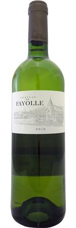 とてもアロマティックなワインで 柑橘系の強い香りとソーヴィニヨンブランのフレッシュさが楽しめます シャトー ド 国内正規品 ファヨル ベルジュラック ブラン 2017 Bergerac de Chateau 750ml 激安卸販売新品 Fayolle Blanc 白