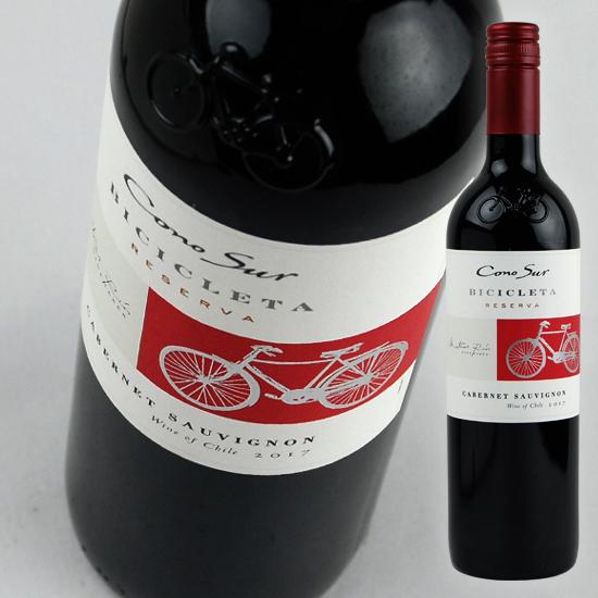 エレガントでしっかりとした骨格を持つ 果実味豊で深い味わいのワイン コノスル ヴァラエタルシリーズ カベルネ ソーヴィニヨン ビシクレタ レゼルバ 赤 希少 Bicicleta Sauvignon 引き出物 Cabernet Cono Reserva 750ml Sur